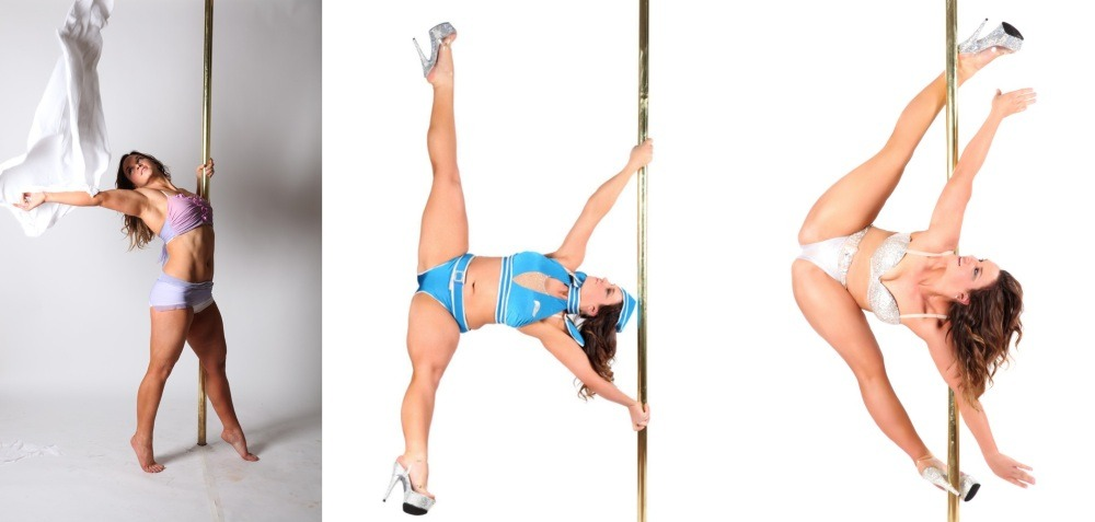 Kristy Sellars dancing on the pole