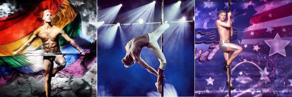 Pole dancer Steven Retchless