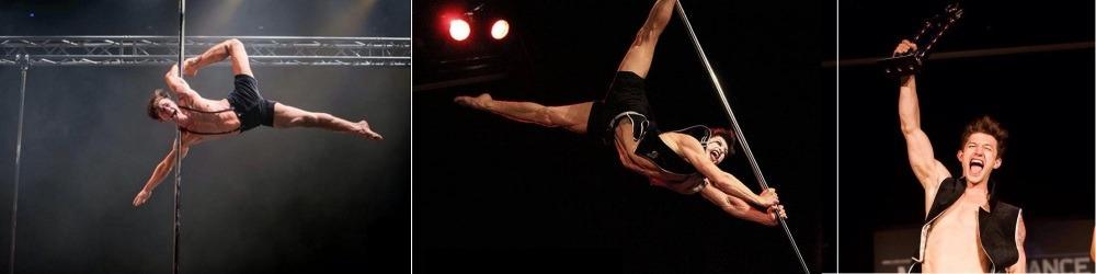 Male pole dancer Alex Shchukin