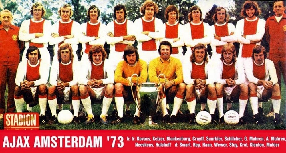 Squad of Ajax Amsterdam in 1973