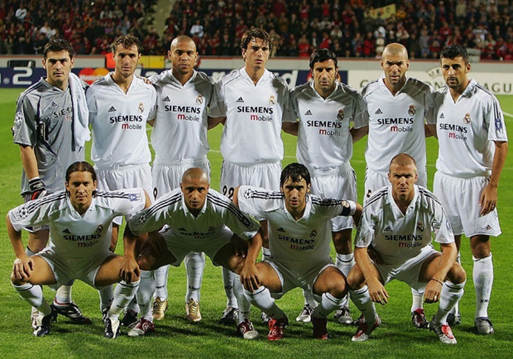 Real Madrid's best formation in 2000