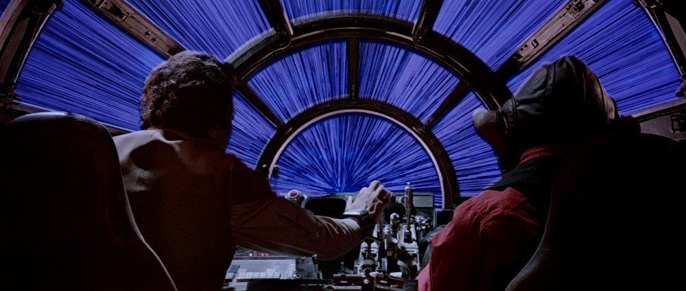 Hyperspace exit, the Star Wars way