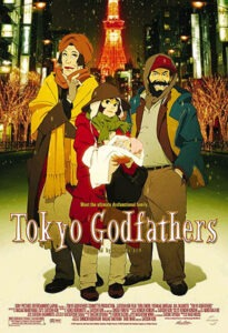 movie poster, tokyo godfathers
