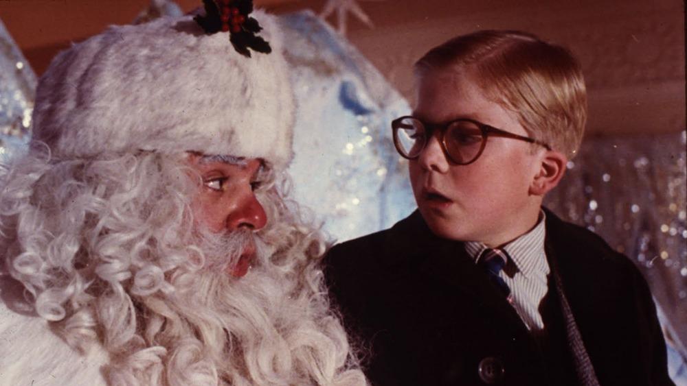 christmas story, ralphie and santa