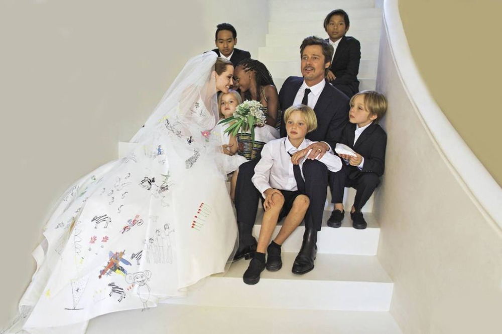 brad pit, angelina jolie and kids