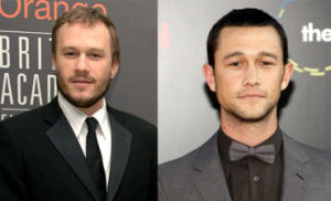 best celebrity look alike, Heath Ledger and Joseph Gordon-Levitt