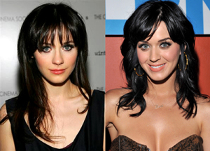 Zooey Deschanel,Katy Perry, twins