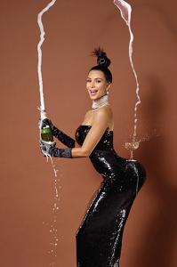 paper magazine, kim kardashian, champagne