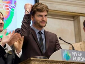 new york stock exchange - ashton kutcher
