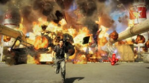 explosion scene from game