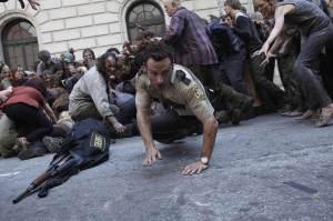 zombie scene, walking dead