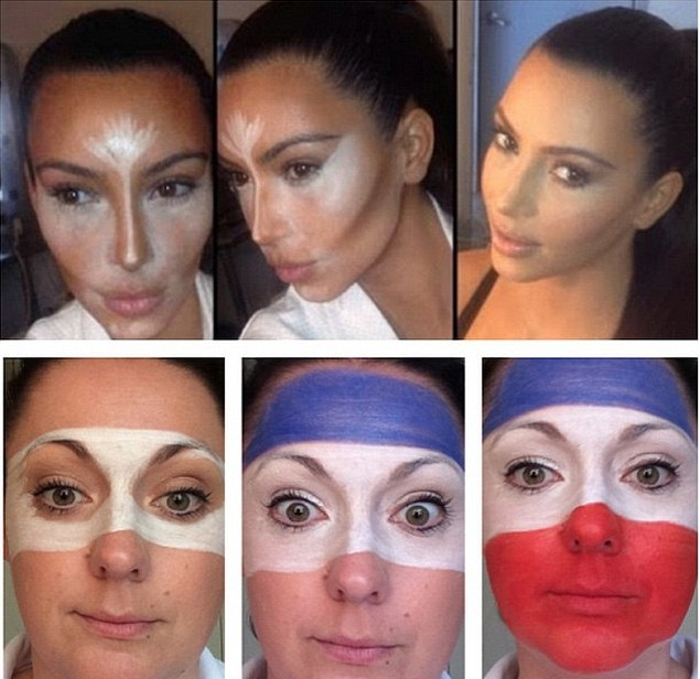 Kim Kardashian's make up tutorial