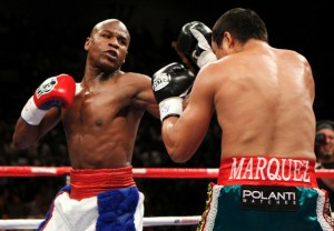 Floyd Mayweather Jr. in action