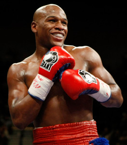 Floyd Mayweather Jr. smiling