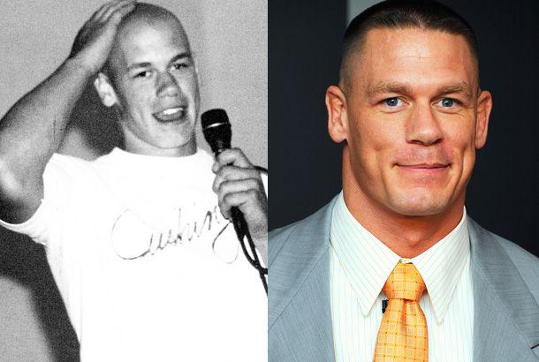 John Cena in Highschool on the left