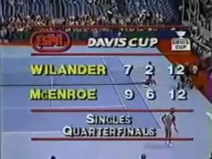 McEnroe vs Wilander