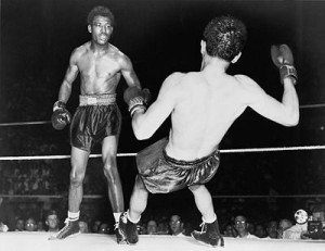 Sugar Ray Robinson  and Jimmy Doyle match