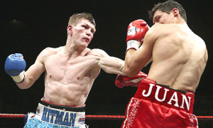 Ricky Hatton in action