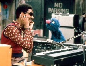 Stevie Wonder with Grover