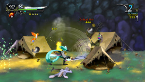 Dust: An Elysian Tail, fighting