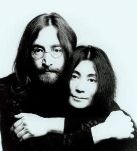 the peace couple, John Lennon and Yoko Ono