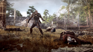fight screenshot, The Witcher 3: Wild Hunt
