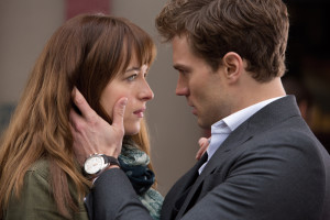 Anastasia Steele and Christian Grey from movie