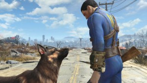 dog from the game, Fallout 4