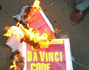 burning books, the davinci code