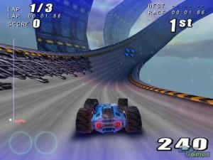 game screenshot, rollcage stage 2