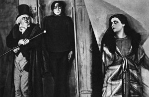 first horror movie, The Cabinet of Dr. Caligari