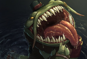 fat frog, league of legends, Tahm Kench
