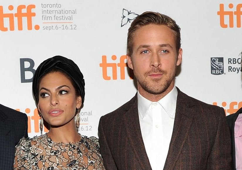 Eva Mendes and Ryan Gossling on an event