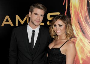 Liam Hemsworth with Miley Cyrus together