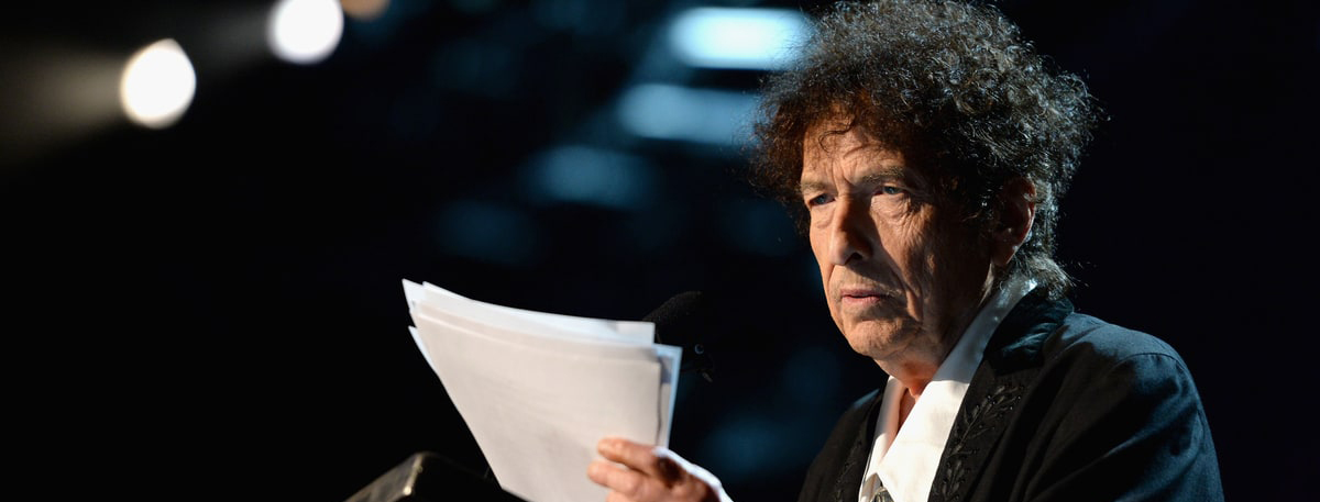 Bob Dylan With a Nobel Prize In Literature