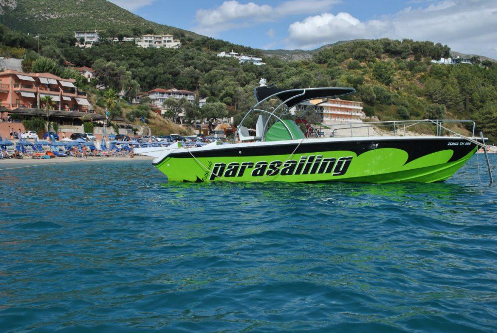 Parasailing in Parga, Greece