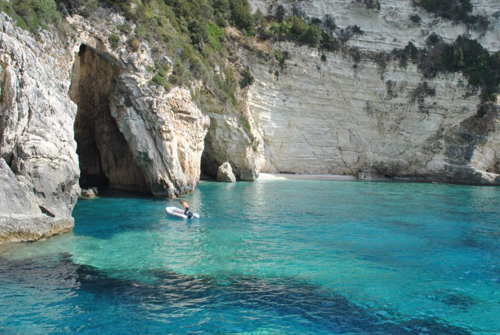 Blue Caves, Paxos, Greece