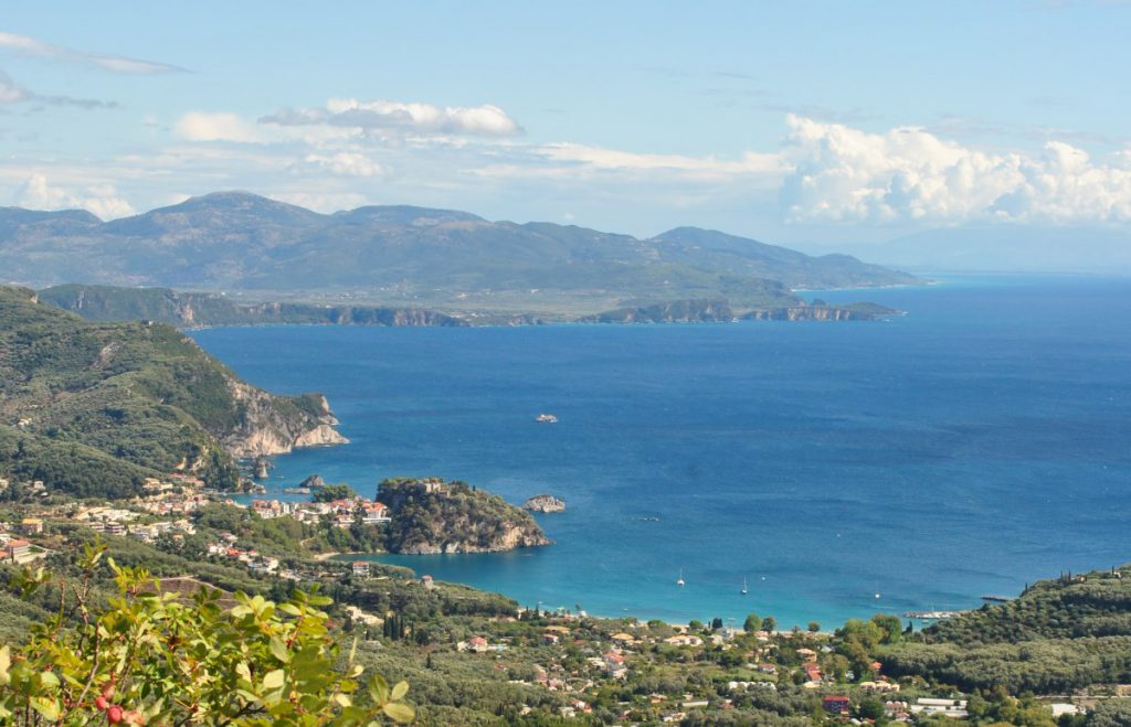 View from Anthousa Castle, Parga, Greece