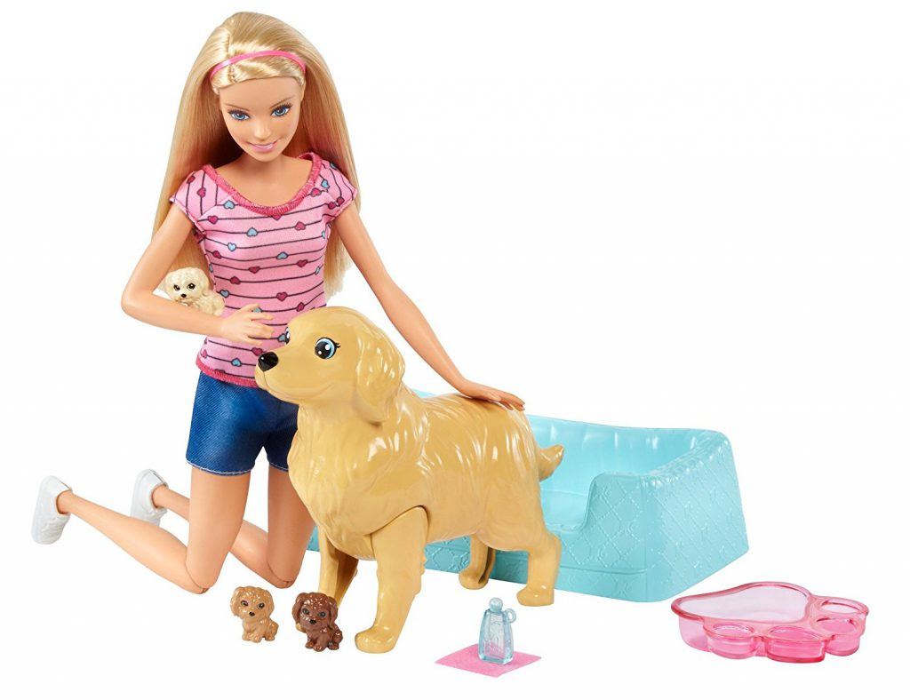 barbie newborn pup doll set Christmas gifts for kids